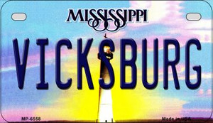 Vicksburg Mississippi Wholesale Novelty Metal Motorcycle Plate MP-6558