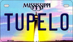 Tupelo Mississippi Wholesale Novelty Metal Motorcycle Plate MP-6560