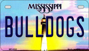 Bulldogs Mississippi Wholesale Novelty Metal Motorcycle Plate MP-6563