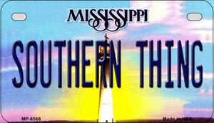Southern Thing Mississippi Wholesale Novelty Metal Motorcycle Plate MP-6568