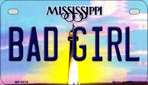 Bad Girl Mississippi Wholesale Novelty Metal Motorcycle Plate MP-6576