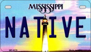 Native Mississippi Wholesale Novelty Metal Motorcycle Plate MP-6578