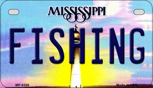 Fishing Mississippi Wholesale Novelty Metal Motorcycle Plate MP-6586