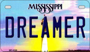 Dreamer Mississippi Wholesale Novelty Metal Motorcycle Plate MP-6588