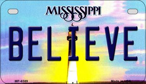Believe Mississippi Wholesale Novelty Metal Motorcycle Plate MP-6589
