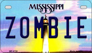 Zombie Mississippi Wholesale Novelty Metal Motorcycle Plate MP-6750