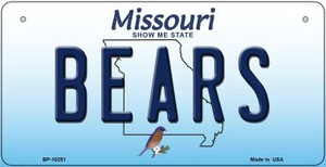 Bears Missouri Wholesale Novelty Metal Bicycle Plate BP-10251