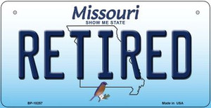 Retired Missouri Wholesale Novelty Metal Bicycle Plate BP-10257