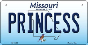 Princess Missouri Wholesale Novelty Metal Bicycle Plate BP-10268