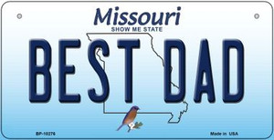 Best Dad Missouri Wholesale Novelty Metal Bicycle Plate BP-10276