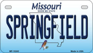 Springfield Missouri Wholesale Novelty Metal Motorcycle Plate MP-10243