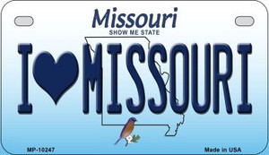 I Love Missouri Wholesale Novelty Metal Motorcycle Plate MP-10247