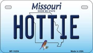 Hottie Missouri Wholesale Novelty Metal Motorcycle Plate MP-10254