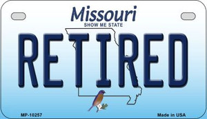 Retired Missouri Wholesale Novelty Metal Motorcycle Plate MP-10257
