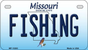 Fishing Missouri Wholesale Novelty Metal Motorcycle Plate MP-10263