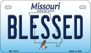 Blessed Missouri Wholesale Novelty Metal Motorcycle Plate MP-10270