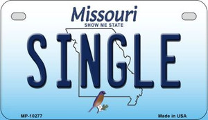 Single Missouri Wholesale Novelty Metal Motorcycle Plate MP-10277