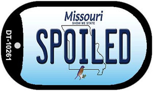 Spoiled Missouri Wholesale Novelty Metal Dog Tag Necklace DT-10261