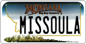 Missoula Montana Wholesale Novelty Metal Bicycle Plate BP-11091