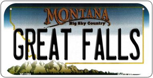 Great Falls Montana Wholesale Novelty Metal Bicycle Plate BP-11094