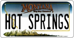 Hot Springs Montana Wholesale Novelty Metal Bicycle Plate BP-11101