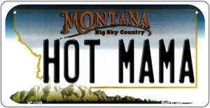 Hot Mama Montana Wholesale Novelty Metal Bicycle Plate BP-11106