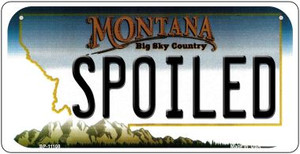 Spoiled Montana Wholesale Novelty Metal Bicycle Plate BP-11108