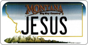Jesus Montana Wholesale Novelty Metal Bicycle Plate BP-11109