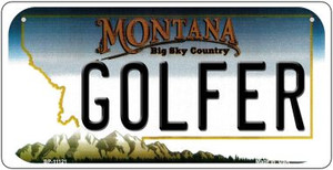 Golfer Montana Wholesale Novelty Metal Bicycle Plate BP-11121
