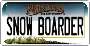 Snow Boarder Montana Wholesale Novelty Metal Bicycle Plate BP-11123