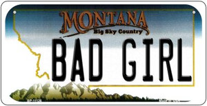 Bad Girl Montana Wholesale Novelty Metal Bicycle Plate BP-11126