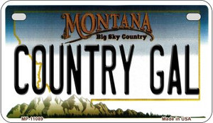 Country Gal Montana Wholesale Novelty Metal Motorcycle Plate MP-11089