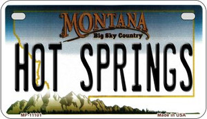 Hot Springs Montana Wholesale Novelty Metal Motorcycle Plate MP-11101