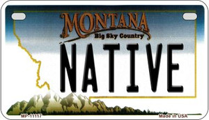 Native Montana Wholesale Novelty Metal Motorcycle Plate MP-11117