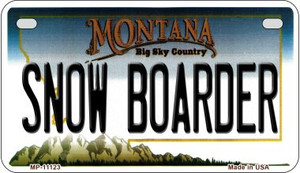 Snow Boarder Montana Wholesale Novelty Metal Motorcycle Plate MP-11123