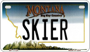 Skier Montana Wholesale Novelty Metal Motorcycle Plate MP-11124