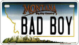 Bad Boy Montana Wholesale Novelty Metal Motorcycle Plate MP-11125