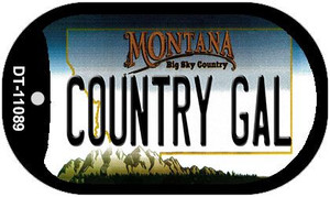 Country Gal Montana Wholesale Novelty Metal Dog Tag Necklace DT-11089