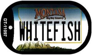 Whitefish Montana Wholesale Novelty Metal Dog Tag Necklace DT-11097