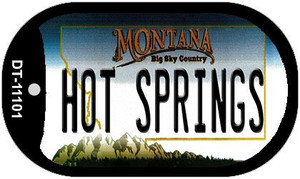 Hot Springs Montana Wholesale Novelty Metal Dog Tag Necklace DT-11101