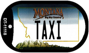 Taxi Montana Wholesale Novelty Metal Dog Tag Necklace DT-11118