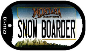 Snow Boarder Montana Wholesale Novelty Metal Dog Tag Necklace DT-11123