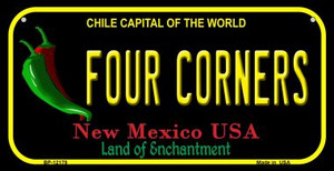 Four Corners New Mexico Black Wholesale Novelty Metal Bicycle Plate BP-12178