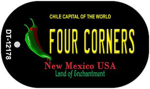 Four Corners New Mexico Black Wholesale Novelty Metal Dog Tag Necklace DT-12178