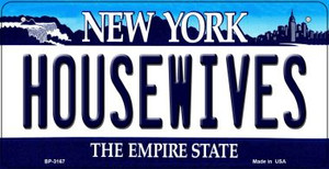 Housewives New York Wholesale Novelty Metal Bicycle Plate BP-3167