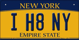 I H8 NY New York Wholesale Novelty Metal Bicycle Plate BP-8975