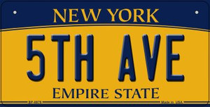 5th Ave New York Wholesale Novelty Metal Bicycle Plate BP-8979