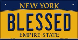 Blessed New York Wholesale Novelty Metal Bicycle Plate BP-8994