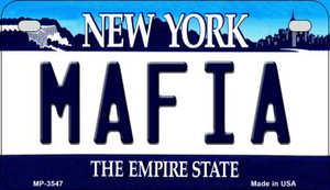 Mafia New York Wholesale Novelty Metal Motorcycle Plate MP-3547