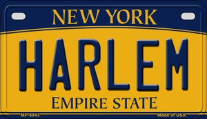 Harlem New York Wholesale Novelty Metal Motorcycle Plate MP-8943